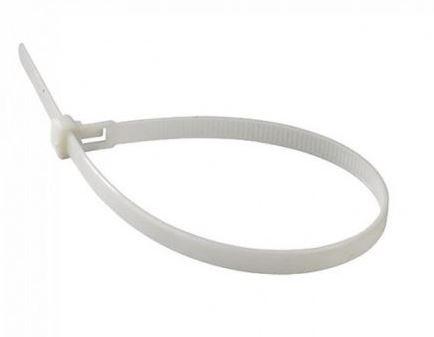 Kábelkötegelő fehér 2,5x200 mm (100db/csomag) - PC11163