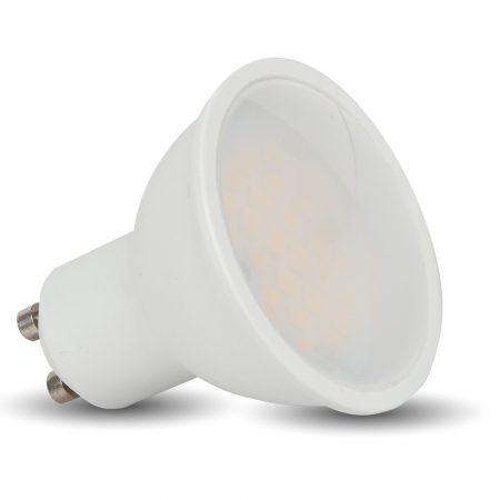 5W LED SPOTLÁMPA SAMSUNG CHIP GU10 LENCSÉS 110° 3000K - PC201