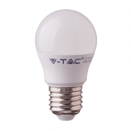 4,5W LED IZZÓ SAMSUNG CHIP E27 G45 4000K A++ 5 ÉV GARANCIA - PC262