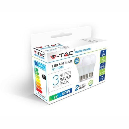 LED IZZÓ - 9W E27 A60 2700K 3DB/CSOMAG - PC7240