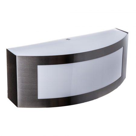 Kerti fali lámpa E27 foglalattal ezüst