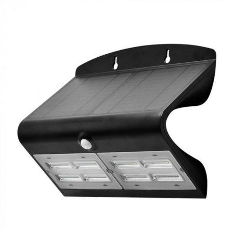 7W LED NAPELEMES LÁMPA FEKETE - PC8279