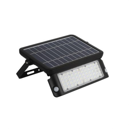 10W LED REFLEKTOR NAPELEMES FEKETE 4000K - PC8550